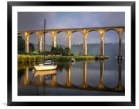 Calstock Viaduct and River Tamar Reflections