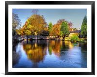 Sheepwash Bridge and The River Wye , Framed Mounted Print
