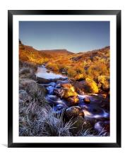 Burbage Brook & Carl Wark, Framed Mounted Print