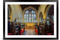 St James Church Interior, Norton, Sheffield , Framed Mounted Print