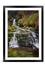 Middle Black Clough Falls, Framed Mounted Print