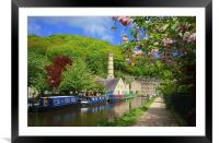 Rochdale Canal at Hebden Bridge , Framed Mounted Print