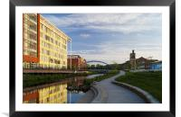 Pocket Park and River Don, Sheffield , Framed Mounted Print