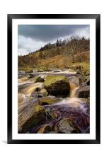 River Ashop Falls , Framed Mounted Print