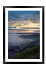 Hope Valley Inversion and Sunrise , Framed Mounted Print