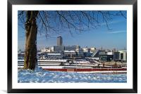 Sheffield City Centre viewed from Park Hill , Framed Mounted Print