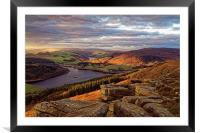 Golden Views of Ladybower , Framed Mounted Print
