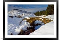 Burbage Valley Packhorse Bridge , Framed Mounted Print