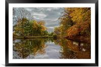 Bentley Brook Mill Pond , Framed Mounted Print
