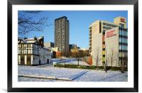 Hallam University and City Centre from Pond Street, Framed Mounted Print