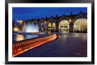 Sheaf Square at Night , Framed Mounted Print