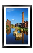 Kelham Island Museum Reflections, Framed Mounted Print