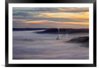 Inversion Sunrise in the Hope Valley , Framed Mounted Print