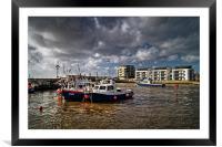 West Bay Harbour , Framed Mounted Print