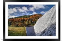 Derwent Dam in Autumn, Framed Mounted Print