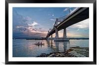 Marcelo Fernan Bridge at Sunset                   , Framed Mounted Print