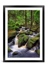Wyming Brook                               , Framed Mounted Print