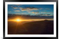 Sunset from Bamford Edge, Framed Mounted Print