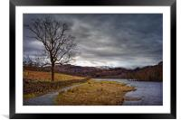 Rydal Water in Winter                             , Framed Mounted Print