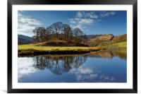 River Brathay Reflections                         , Framed Mounted Print