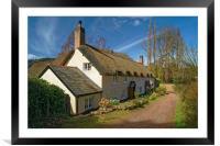 Dunster Cottage                       , Framed Mounted Print