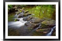 Porter Brook Falls,Endcliffe Park,Sheffield       , Framed Mounted Print