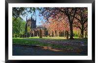 St Mary Magdelene Church, Whiston                 , Framed Mounted Print