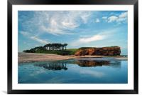 Coastline at Budleigh Salterton                   , Framed Mounted Print