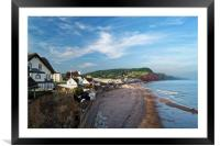 Evening Light over Sidmouth                      , Framed Mounted Print