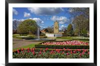 Cenotaph and Gardens, Clifton Park, Rotherham     , Framed Mounted Print
