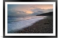 Lyme Sunset                      , Framed Mounted Print