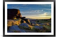 Owler Tor Sunset                               , Framed Mounted Print