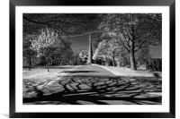 Cholera Monument, Infra Red                       , Framed Mounted Print