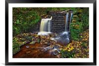 Rivelin Old Mill and Falls                        , Framed Mounted Print