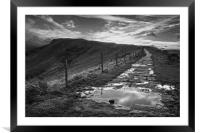 Great Ridge Mono Sunset                     , Framed Mounted Print