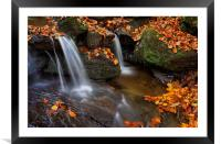 Porter Clough Falls                              , Framed Mounted Print