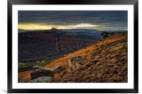 Win Hill and Bamford Edge                         , Framed Mounted Print