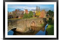 Medieval Exe Bridge                   , Framed Mounted Print