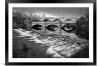 Norfolk Bridge and Burton Weir                    , Framed Mounted Print