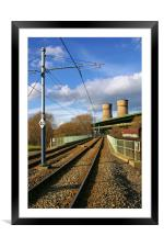 Tram Lines and Tinsley Cooling Towers, Framed Mounted Print
