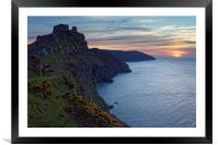 Valley of the Rocks Sunset                        , Framed Mounted Print