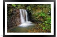 Hidden Falls near Damflask                       , Framed Mounted Print