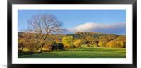 Hope Valley during Autumn                         , Framed Mounted Print