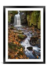 Lumsdale Falls Near Matlock                    , Framed Mounted Print