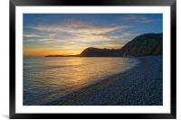 Sidmouth Sunset                      , Framed Mounted Print