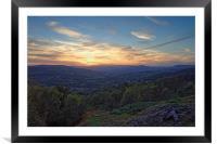 Hope Valley Sunset                               , Framed Mounted Print