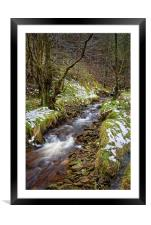 Ouzelden Brook, Peak District                     , Framed Mounted Print