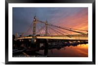 Albert Bridge, Framed Mounted Print