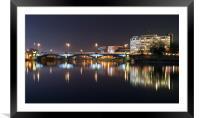Trent Bridge Reflections, Framed Mounted Print