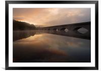 Ladybower Sunrise, Framed Mounted Print